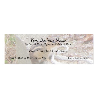 Chippie The Chipmunk Investigates A Rope Business Card