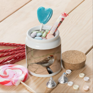 Chipping Sparrow Candy Jar