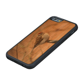 Chipping Sparrow Carved Cherry iPhone 6 Bumper Case
