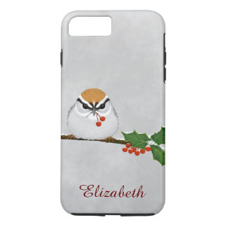 Chipping Sparrow with Holly Berries iPhone 7 iPhone 8 Plus/7 Plus Case