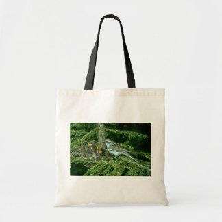 Chipping Sparrow with nest Budget Tote Bag