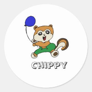 chippy copy, Chippy Round Sticker