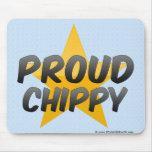 Chippy orgulloso alfombrillas de ratones