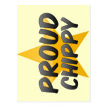 Chippy orgulloso tarjetas postales