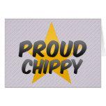 Chippy orgulloso tarjeton