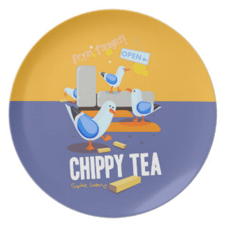 Chippy Tea Plate