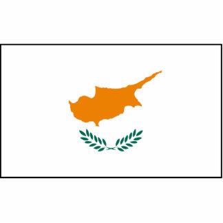 Chipre - bandera chipriota fotoescultura vertical