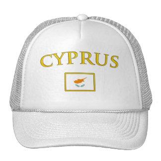 Chipre de oro gorros bordados