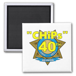 CHiPs 40th Anniversary Magnet