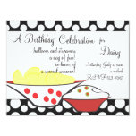 """Chips and Dips 4.25"""" X 5.5"""" Invitation Card"""