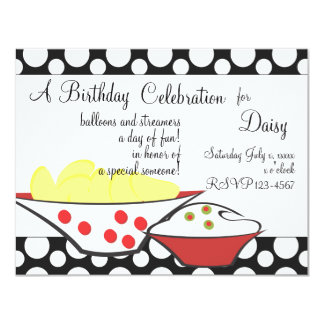 "Chips and Dips 4.25"" X 5.5"" Invitation Card"