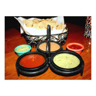 """Chips And Salsa 5.5"""" X 7.5"""" Invitation Card"""