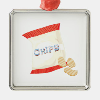 Chips Bag Metal Ornament
