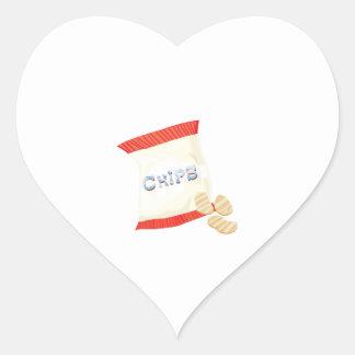 Chips Bag Heart Sticker