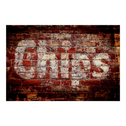 Chips Brick Wall Poster