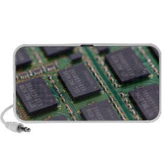 Chips de memoria del ordenador notebook altavoz