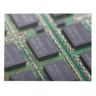 Chips de memoria del ordenador libretas para notas