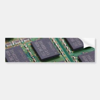 Chips de memoria del ordenador etiqueta de parachoque