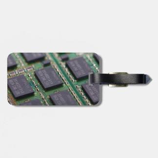Chips de memoria del ordenador etiqueta para equipaje