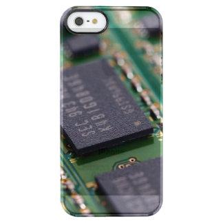 Chips de memoria del ordenador funda clearly™ deflector para iPhone 5 de uncommon