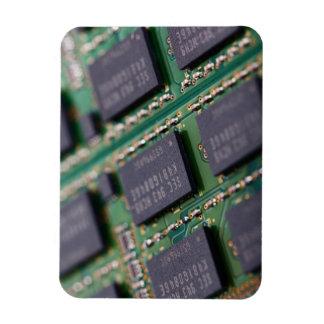 Chips de memoria del ordenador imanes rectangulares