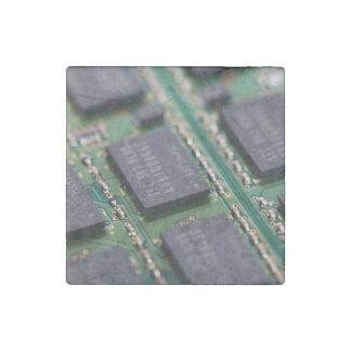 Chips de memoria del ordenador imán de piedra