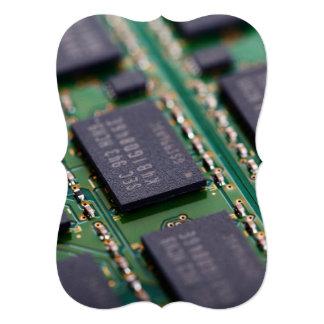 Chips de memoria del ordenador invitación 12,7 x 17,8 cm