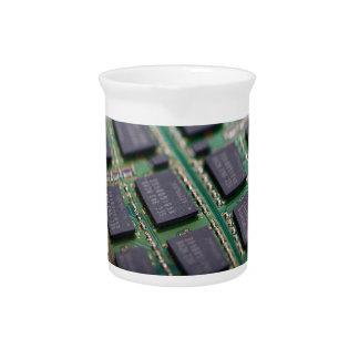 Chips de memoria del ordenador jarrón