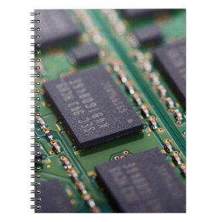 Chips de memoria del ordenador libro de apuntes