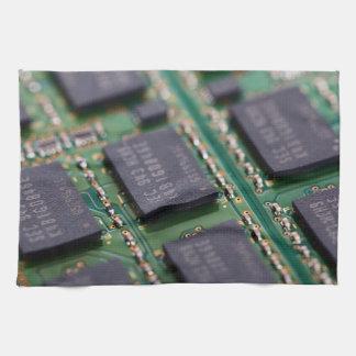 Chips de memoria del ordenador toallas de mano