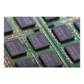 Chips de memoria del ordenador foto