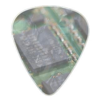 Chips de memoria del ordenador plectro de celuloide nacar