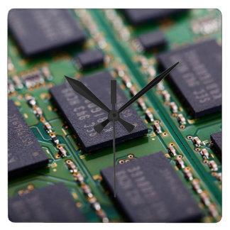 Chips de memoria del ordenador relojes