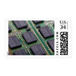 Chips de memoria del ordenador sellos