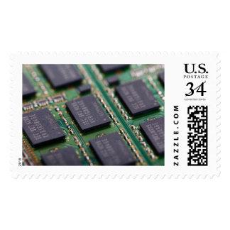 Chips de memoria del ordenador franqueo