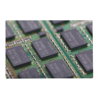 Chips de memoria del ordenador tapete individual