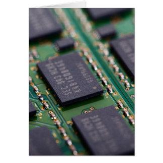 Chips de memoria del ordenador felicitaciones