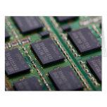 Chips de memoria del ordenador tarjeta de felicitación grande