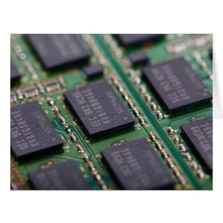 Chips de memoria del ordenador felicitación