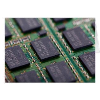 Chips de memoria del ordenador tarjetón