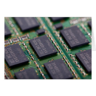 Chips de memoria del ordenador tarjeta de felicitación