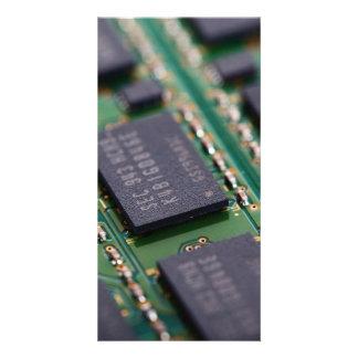 Chips de memoria del ordenador tarjeta fotográfica