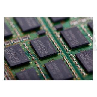 Chips de memoria del ordenador tarjeta pequeña