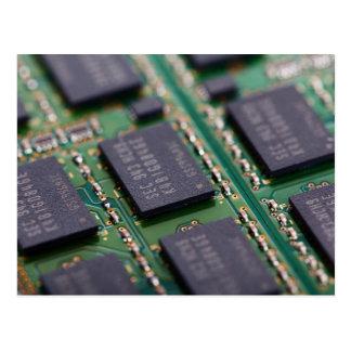 Chips de memoria del ordenador tarjeta postal