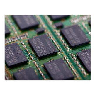 Chips de memoria del ordenador postal