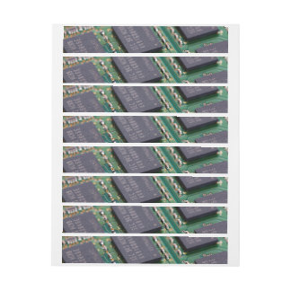 Chips de memoria del ordenador etiquetas envolventes de dirección