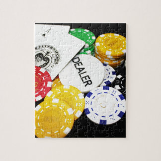 Chips Gambling Casino Win Game Luck Risk Bet Jigsaw Puzzle