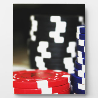Chips Gambling Casino Win Game Luck Risk Bet Plaque