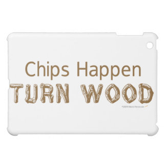 Chips Happen Turn Wood Funny Woodturning ipad case