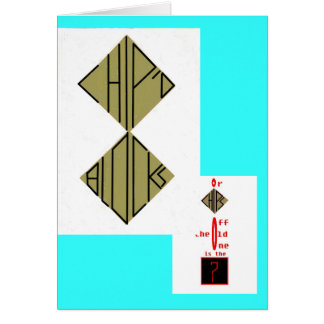 chips off the old block or chip;d blocks card